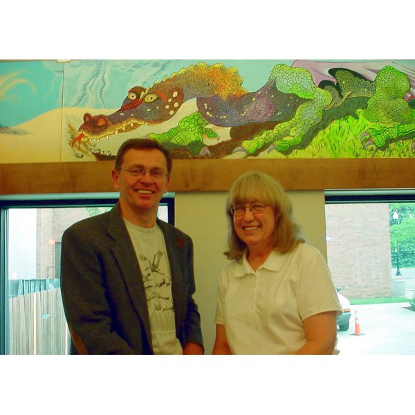2007 - Steve Hovel & Gisela - Hovel Painted the dragon murals that are hanging in the Teen Area